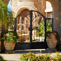 Wrought Iron Courtyard Gates Escondido, CA