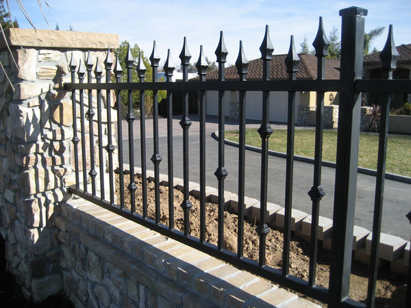 Iron gates escondido fence railings