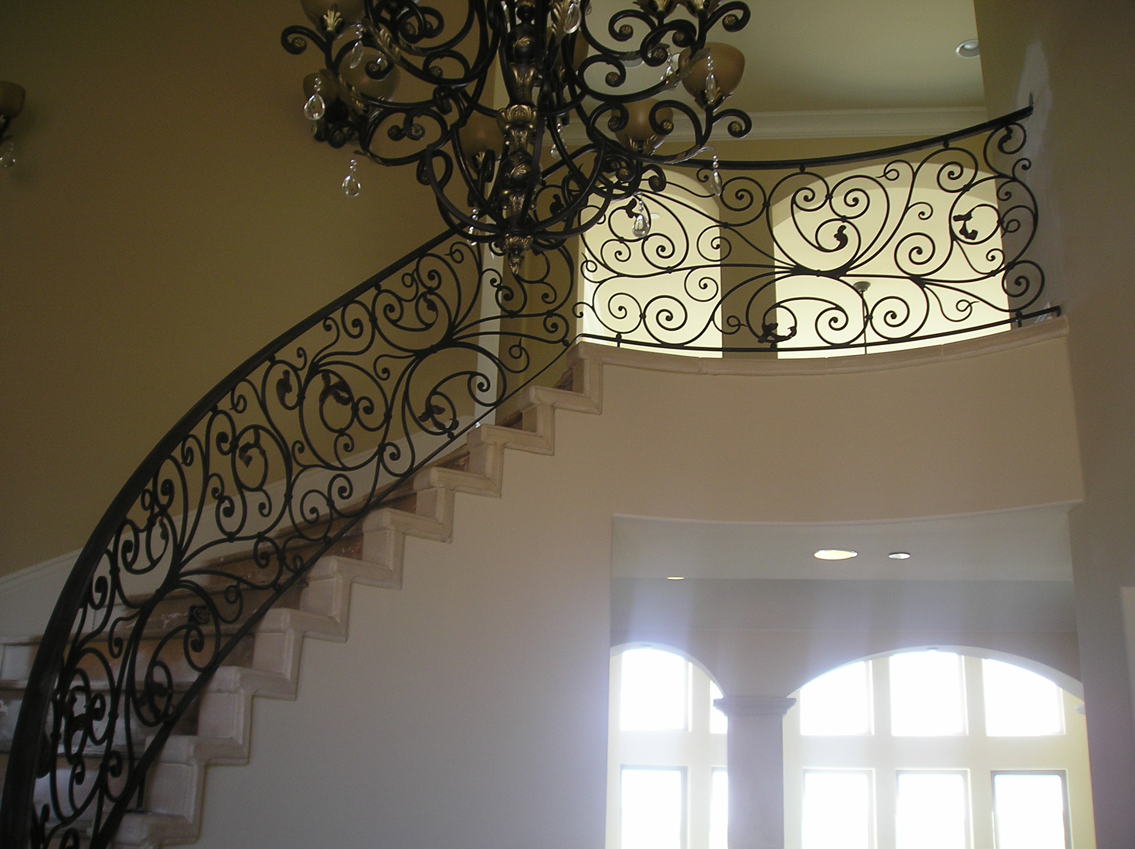 stairs white decoration ideas porch alternative outdoor wrought iron railings railing stair